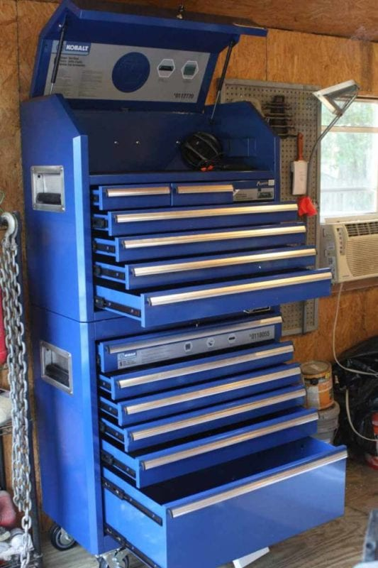 Kobalt Steel Tool Chest With Pioneer Stereo System Review