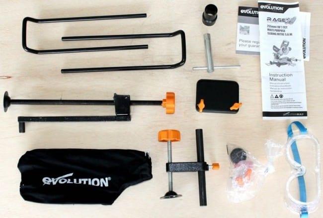 Evolution RAGE 3 saw accessories