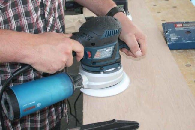 Bosch ROS65VC Random Orbit Sander wood