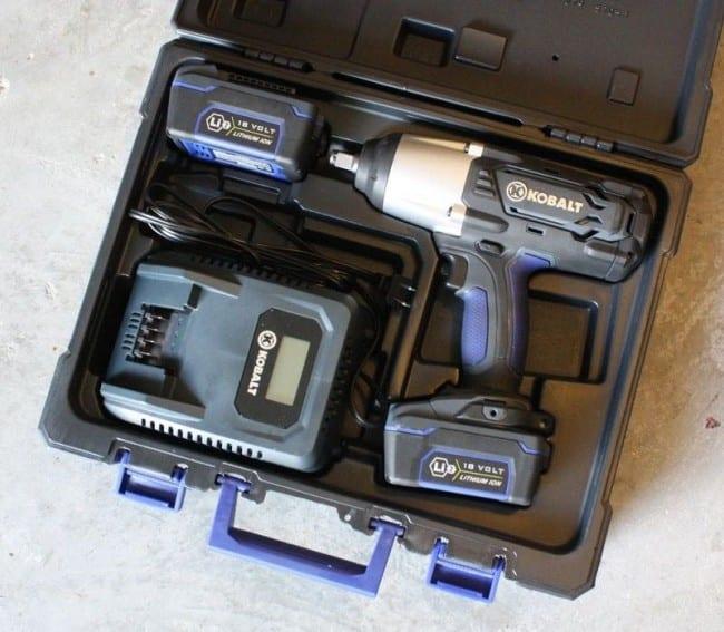 Kobalt 18V Li-ion Cordless Impact Wrench kit