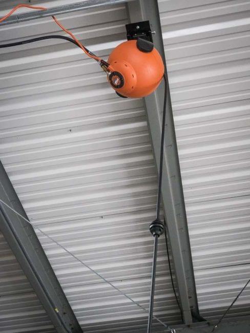 RoboReel retractable air hose reel