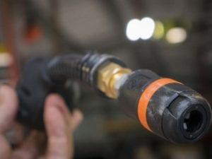 RoboReel air hose outlet
