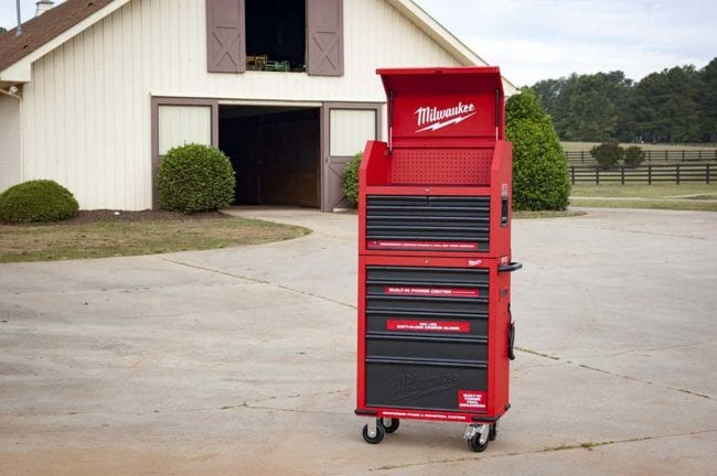 Milwaukee 30-Inch Steel Chest and Cabinet -Profile