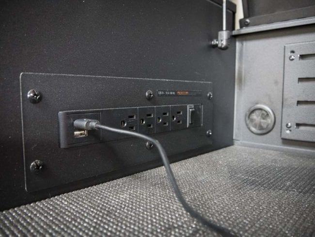 husky tool chest power strip USB
