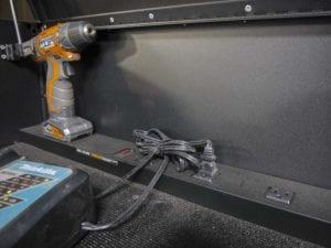power strip 56-inch Husky tool chest